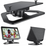 Horizontal 360 Rotation Tilt Stand with Precision Bearing Bracket for Amazon Echo Show 2nd - Black
