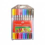 Carioca 10 culori Faber Castell lavabil cu 2 capete 151110