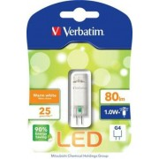 LED izzó, G4, mini, 80lm, 1W, 2700K, meleg fény, bliszterben, VERBATIM (VLED143)