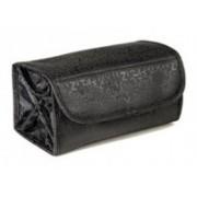 SZONE Travel Cosmetic Roll n Go Cosmetic Bag Toiletry Bag Travel Toiletry Kit(Black)