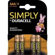 Duracell Simply Alkaline AAA 4x