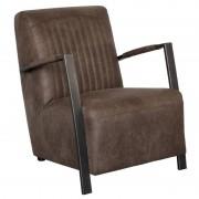 HomingXL Industriële fauteuil Venus leer Colorado bruin 04 66 cm breed