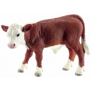 Schleich Hereford Calf Toy Figure