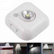 0.5W de 360 ??grados giratorio de una sola cabeza PIR LED lampara de sensor LED - blanco