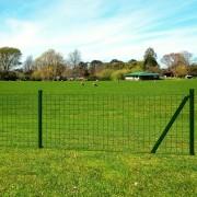vidaXL Euro Fence Set 25x1 m Steel Green