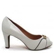 Sapato Peep Toe Feminino Salto Grosso Vizzano 18440105