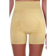 Kelsa Slim vysoké stahovací kalhotky s nohavičkou L béžová