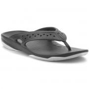Crocs Sandaler CROCS - Swiftwater Deck Flip M 204961 Black/Light Grey
