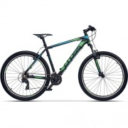 "Bicicleta CROSS GRX 7 VB 27.5"" negru/albastru/ verde 41 cm"