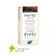 Ales Groupe Italia Spa Phyto Phytocolor 6.34 Colorazione Capelli Biondo Scuro Ramato Intenso Latte + Crema + Maschera