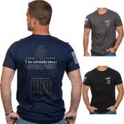 Nine Line Apparel Le serment Short Sleeve T-Shirt Noir XL