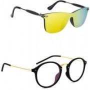 layd Wayfarer Sunglasses(Yellow, Clear)