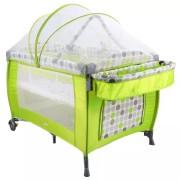 Patut Premium cu plasa anti-insecte cu arcuri, Grupa 0+ luni, Verde