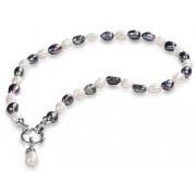 JwL Luxury Pearls Náhrdelník z pravých perel ve dvou odstínech JL0316