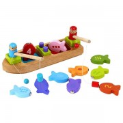 Unbranded Barbo toys trä fiskebåt med magneter