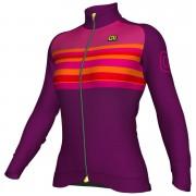 Alé Women's Stripe Winter Jersey - Purple - XS - Purple