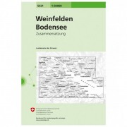 Swisstopo - 5021 Weinfelden - Wandelkaarten Ausgabe 2006