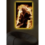 Tablou pe panza iluminat Shining, 239SHN1289, 45 x 70 cm, panza