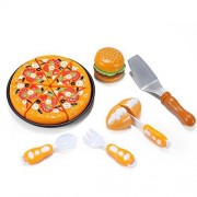 Kitchen Fun Pizza Party Fast Food Cooking & Cutting Play Set Toy for kids