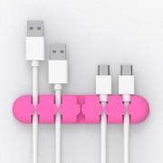 Orico CBS5 Material De Silicona Desktop Administrador De Cable Winder Fixer, Tamaño: 9,6 * 2 * 1.2cm (rosa)