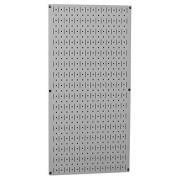 """Wall Control 30-P-3216 G 32"""" x 16"""" Gray Metal Pegboard Tool Board Panel"""