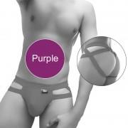 Icker Sea Hoops Jock String Jock Strap Underwear Purple COI-20-01