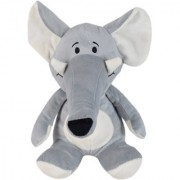 Ultra Long Trunk Elephant Soft Toy 9 Inches Grey