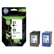 HP Pack 2 cartuchos tinta SD367AE: HP 21 negro + HP 22 tricolor