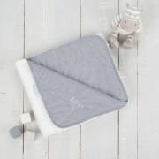 Paturica reversibila din tricotfleece 90x70 cm Comfi Love Grey 844524