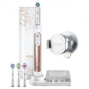 Електрическа четка за зъби Oral-B Genius 9000, 6 програми, 4 глави, Bluetooth, SmartRing, Rosegold