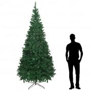 vidaXL Коледно дърво, изкуствено, XL, 300 см, зелено