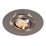 QAZQA Spot à encastrer Easy acier à grands bords acier inox.