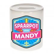 Bellatio Decorations Kinder cadeau spaarpot voor een Mandy
