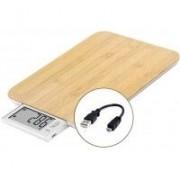 LITTLE BALANCE Balance de cuisine LITTLE BALANCE Green Power Bamboo USB Energy Sans pile