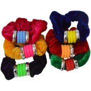 Adbeni Colourful Soft Cloth Coated With Pearl Shape Rubber Hairbands Good Choice