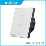 Intrerupator inteligent BroadLink dublu wireless din sticla cu touch