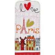 Husa Akashi Flip Apple iPhone SE 5S Paris Design