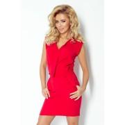 MyButik.pl Sukienka Z Zakładanym Dekoltem Czerwona XS/S/M/L/XL