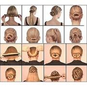NERR Women (1 Pc) Girls Perfect Hair Bun Making Styling French Twist Donut Bun Hairstyle Tool