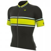 Alé R-EV1 Speed Fondo Jersey - Black/Yellow - S - Black/Yellow