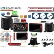 NTR ECAM34LCD Vízálló endoszkóp kamera 1080P FHD 2MP 8mm átmérő 8LED + LCD monitor + 2m kábel