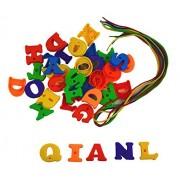 Bo Toys Uppercase Lacing Alphabet Letters set with laces, 52 pcs set