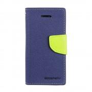 Mercury Goospery Fancy Diary Wallet Case for iPhone 5C - Navy Blue