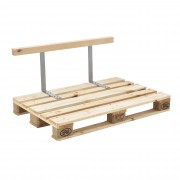 [en.casa]® Respaldo para sofá- palé / para europalé - apariencia de madera maciza - muebles DIY