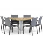Lifestyle Garden Furniture Lifestyle Rome/Julia 155 cm triangel dining tuinset 7-delig