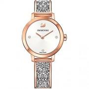 SWAROVSKI Reloj de pulsera para mujer con esfera blanca de Swarovski