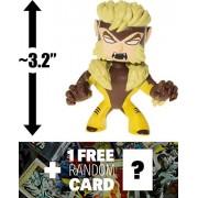 "Sabretooth: ~3.2"" X-Men x Funko Mystery Minis Vinyl Mini-Bobble Head Figure + 1 FREE Official Marvel Trading Card Bundle (116923)"