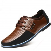 Zapatos Para Hombre Negocio Y Ecocuero Mezclado Con Cordón - Marrón