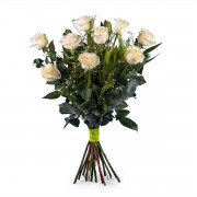 Interflora 9 Rosas Brancas de Pé Longo Interflora