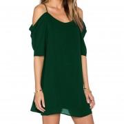 Vestido Casual E-Thinker para mujer con tirantes y de gasa - Verde